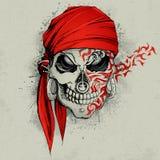 De Achtergrond van de schedel vector illustratie