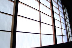 De achtergrond van de Shojischuifdeur royalty-vrije stock afbeelding