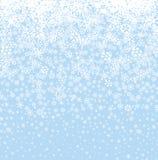 De achtergrond van de sneeuw Het Naadloze Patroon van sneeuwvlokken De winter sneeuwseaml Royalty-vrije Stock Afbeeldingen