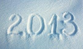 De achtergrond van de sneeuw van Nieuw jaar 2013 Stock Afbeeldingen