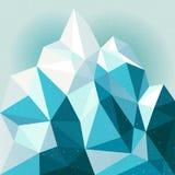 De achtergrond van de sneeuwberg Royalty-vrije Stock Afbeeldingen