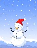 De achtergrond van de sneeuwman royalty-vrije illustratie