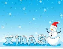 De achtergrond van de sneeuwman Royalty-vrije Stock Afbeelding