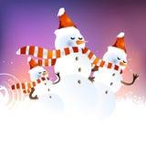 De Achtergrond van de sneeuwman Royalty-vrije Stock Fotografie