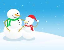De achtergrond van de sneeuwman Royalty-vrije Stock Foto's
