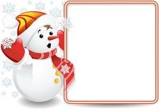 De Achtergrond van de Sneeuwman van de baby Royalty-vrije Stock Fotografie