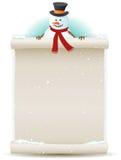 De Achtergrond van de Sneeuwman van de kerstman Royalty-vrije Stock Afbeeldingen