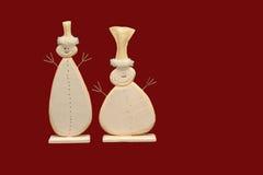 De Achtergrond van de Sneeuwmannen van Kerstmis Stock Foto