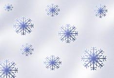De achtergrond van de sneeuwval Stock Afbeeldingen