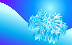 De achtergrond van de sneeuwvlok Stock Afbeelding