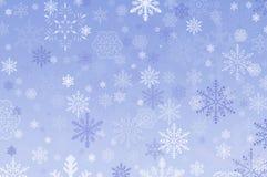 De Achtergrond van de sneeuwvlok Stock Fotografie