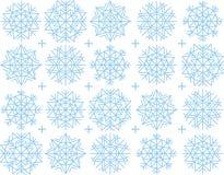 De achtergrond van de sneeuwvlok Stock Foto's