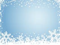 De achtergrond van de sneeuwvlok Royalty-vrije Stock Foto's