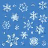 De achtergrond van de sneeuwvlok Stock Afbeeldingen