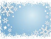 De achtergrond van de sneeuwvlok vector illustratie