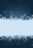De achtergrond van de sneeuwvlok met ruimte voor tekst Royalty-vrije Stock Foto