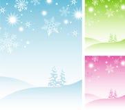 De Achtergrond van de Sneeuwvlok van de winter Royalty-vrije Stock Afbeeldingen