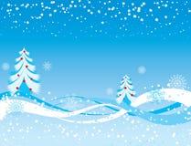 De achtergrond van de sneeuwvlok, vector royalty-vrije illustratie