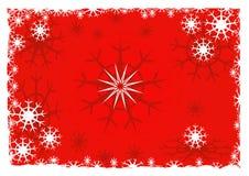 De achtergrond van de sneeuwvlok - vector stock illustratie