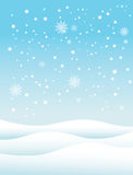 De achtergrond van de sneeuwwinter Stock Afbeelding