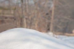 De achtergrond van de sneeuwwinter Stock Foto