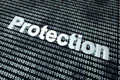 De achtergrond van de softwarebescherming Stock Afbeeldingen
