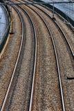 De achtergrond van de spoorweg Stock Afbeeldingen