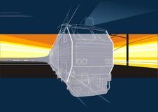 De achtergrond van de spoorweg royalty-vrije illustratie