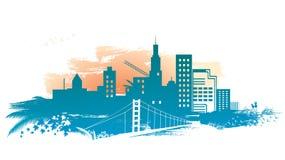 De achtergrond van de stad Royalty-vrije Stock Afbeeldingen