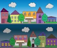 De achtergrond van de stad Stock Foto's