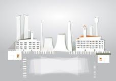 De achtergrond van de stadsfabriek van document wordt gemaakt dat Stock Foto
