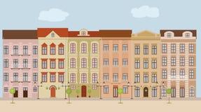 De achtergrond van de stadsstraat stock illustratie