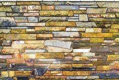 De achtergrond van de steenmuur Stock Foto