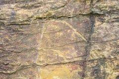 De achtergrond van de steentextuur, Bruin en grijs Stock Foto's