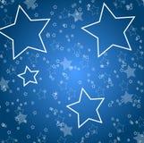 De achtergrond van de ster Stock Foto's