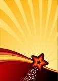 De achtergrond van de ster Stock Fotografie