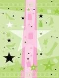 De achtergrond van de ster, van de gift en van de schoen Royalty-vrije Stock Fotografie