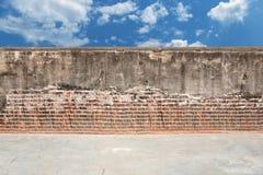 De achtergrond van de straatmuur met hemel royalty-vrije stock foto's
