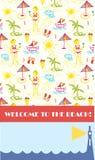 De achtergrond van de strandpartij voor banner Stock Fotografie