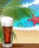 De achtergrond van de strandvakantie Stock Foto's