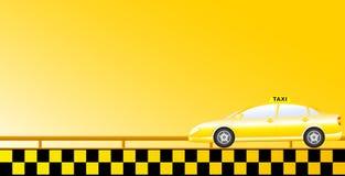 De achtergrond van de taxi met weg Stock Afbeelding