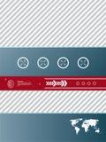 De achtergrond van de technologie Stock Afbeeldingen