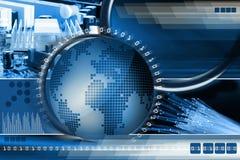 De achtergrond van de technologie Royalty-vrije Stock Afbeeldingen