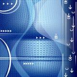 De achtergrond van de technologie met abstracte vormen Stock Foto
