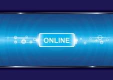 De achtergrond van de technologie met online royalty-vrije illustratie