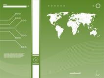 De achtergrond van de Technologie van de kaart Stock Fotografie