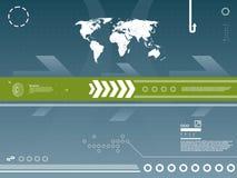 De achtergrond van de Technologie van de kaart Stock Afbeeldingen