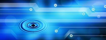 De Achtergrond van de Technologie van Internet van de computer royalty-vrije stock afbeeldingen