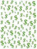 De Achtergrond van de Tekens van de Dollar van het geld Royalty-vrije Stock Fotografie
