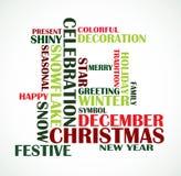 De achtergrond van de Tekst van Kerstmis Stock Afbeeldingen